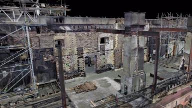 Mackintosh Building: A tenth of the hall's structure was lost in the blaze.