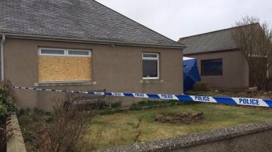 Brian McKandie's cottage, where his body was found.