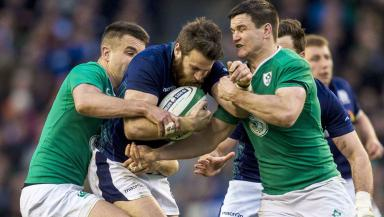 Rivalry: Scotland and Ireland have enjoyed some ferocious Six Nations battles over the years.