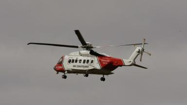 Coastguard: Man airlifted to hospital.