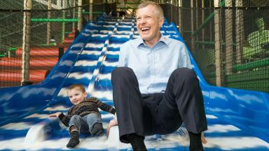 On the slide? No, says Willie Rennie. His party is on the up.