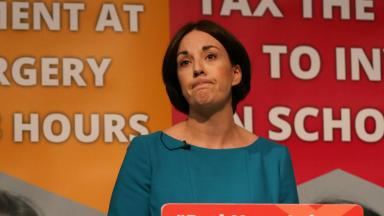 Outspent: Kezia Dugdale's party came third in both seats won and money spent in 2016.