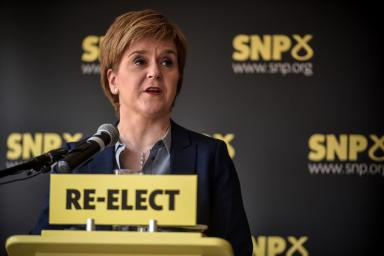 Campaign pledge: Sturgeon said plans for a summer independence drive would go ahead. (file pic)