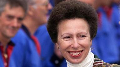 Forth Hope: The Princess Royal named the ship during a tour of Rosyth