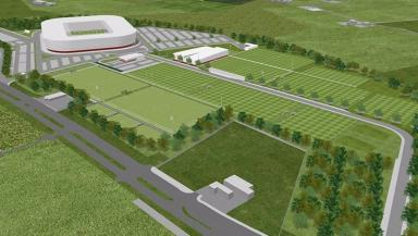 Vision: Artist's impression of the stadium plans.