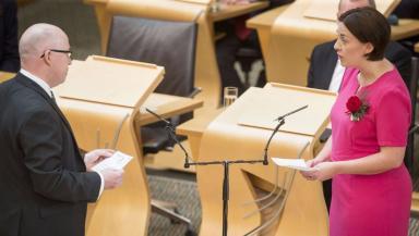 Kezia Dugdale: Scottish Labour leader sworn in