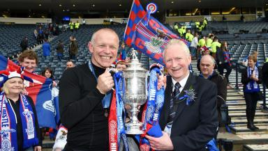 John Hughes with Inverness CT chairman Kenny Cameron