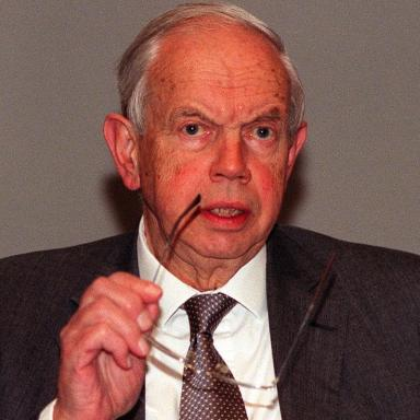 Lord Neill of Bladen pictured in 2000.