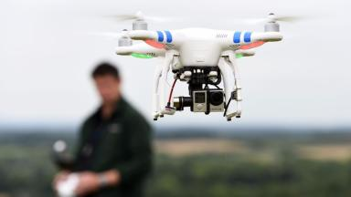 Drones: Trialled by emergency services across UK (file pic).