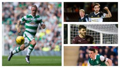 UEFA: Leigh Griffiths, Graeme Shinnie, Callum Paterson and John McGinn are looking forward to the June 20 draw