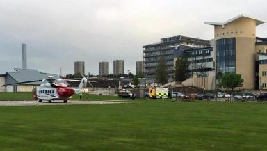 Rescue: The passenger was taken to Aberdeen Royal Infirmary.