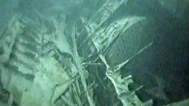 Sunk: The wreckage of the HMS Hampshire on the seabed.