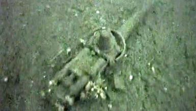 Guns: Some weapons were thrown up to 100ft from the vessel.