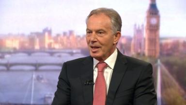 Tony Blair was speaking 20 years after the Scottish devolution vote.