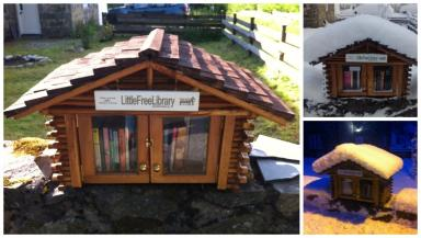 Popular: Julia says the little library concept has been embraced by both locals and tourists.