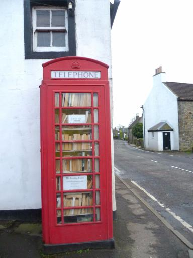 Village treasure: David says the phone box library is a part of Kinneswood's heritage.