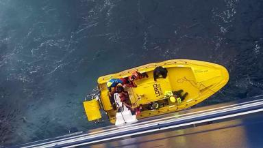 Crew: Nine people were rescued.