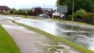 Inverurie: Flash floods hit Aberdeenshire town.