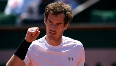 Victory: Murray returned after elbow injury.