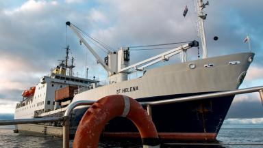 St Helena: Last ship built in Aberdeen returns to Britain (file pic).