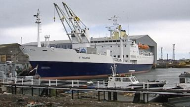 Under construction: RMS St Helena at Aberdeen docks.