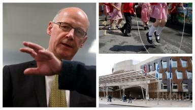 John Swinney: The education secretary is in charge of administering the policy.