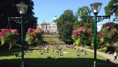 Park life: Sir Ian Wood's £140m vision for Union Terrace Gardens was knocked back in 2012.