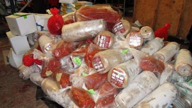 Kebab meat: Two tonnes seized and destroyed.