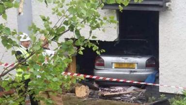 Hospital: Car ploughs into side of building in St Andrews.