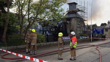 Fire crews: Ninety firefighters were on scene.