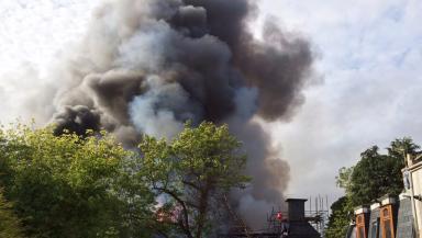 Cloud: Plume of smoke seen across Aberdeen.