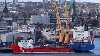 North Sea: Many of the vessels sail out of Aberdeen (file pic).