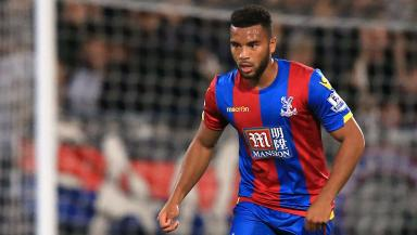 Adrian Mariappa in action for Crystal Palace.
