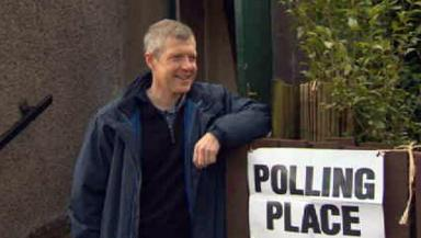 Willie Rennie: Scottish Lib Dem leader at polling station.