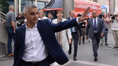 Race row: Sadiq Khan has said there is 'no difference' between dividing Scots and English and racism.