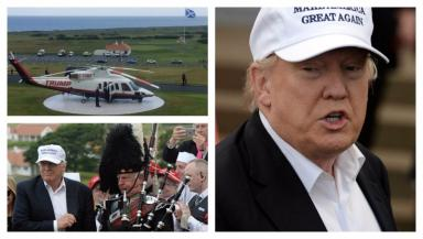 Donald Trump: Tycoon arrives at Turnberry for official reopening.