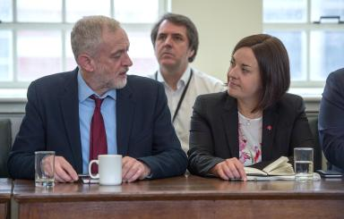 Autonomy: Jeremy Corbyn backed Kezia Dugale's plans to change Labour's structures in October (file pic).
