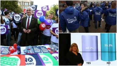 Better Together: The No campaign were victorious in 2014, winning by a 10-point margin.