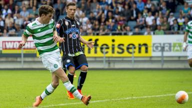 Celtic's Ryan Christie opens the scoring.