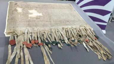 Declaration of Arbroath: Will go on display next year.