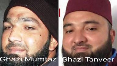 Killers: Mumtaz Qadri and Tanveer Ahmed side by side in Facebook post.