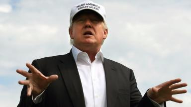 Trump: Objections lodged against golf course plan.