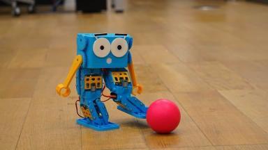 Marty: Tiny robot walks, dances and roller skates.