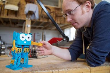 Alexander: Creator of tiny robot Marty.