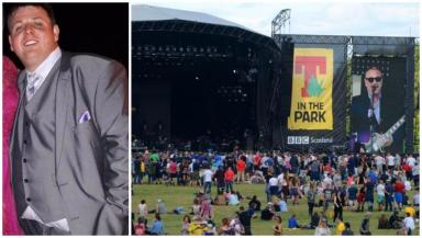 Death: James Richardson had been walking home from T in the Park.