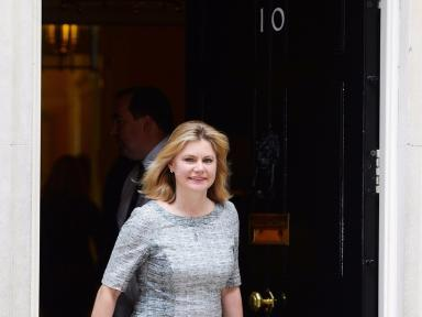 Justine Greening leaving 10 Downing Street