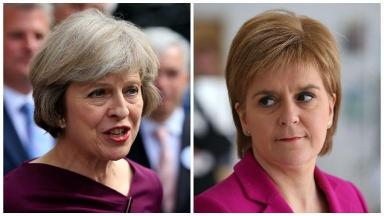 Indyref2: May has reacted to Sturgeon's vote announcement (file pic).