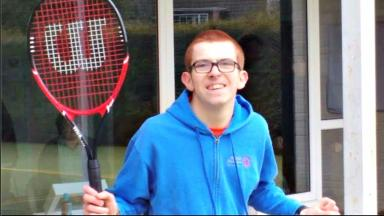 Tennis Ace: Ben Gray, 19, is now set for the Special Olympics in 2017.
