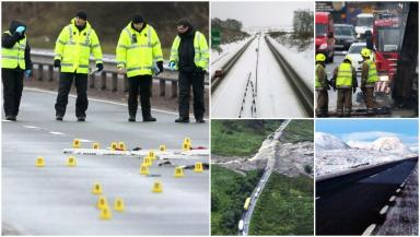 Accidents: Just under 900 people were casualties on Scotland's trunk roads in the past three years.