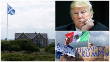 Trump: Appeal to Scottish Government over saltire flagpoles.